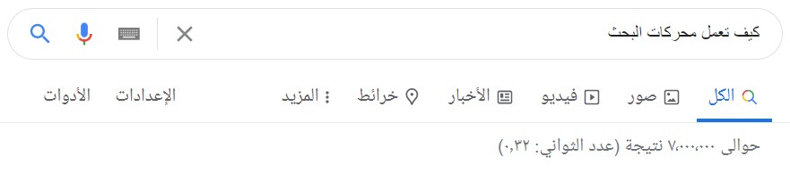 بحث جوجل كيف تعمل محركات البحث