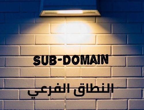 النطاق (الدومين) الفرعي Sub-Domain